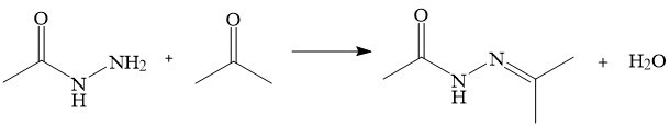 Reaction of hydrazide with carbonyl compounds